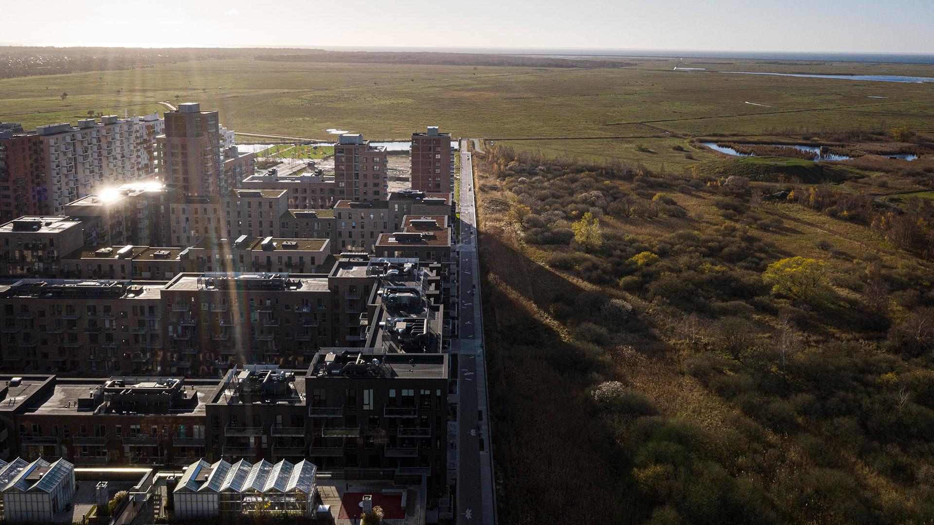 Luftfoto fra Ørestad Syd